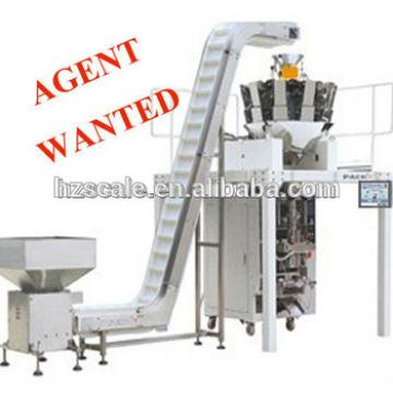 Automatic combination multihead weigher for vertical form fill seal packaging machine