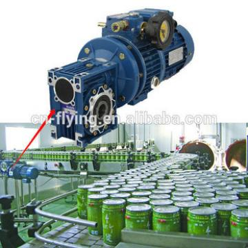 New design Wj Series Worm Reducer for Food machinery flaoting fish food processing line