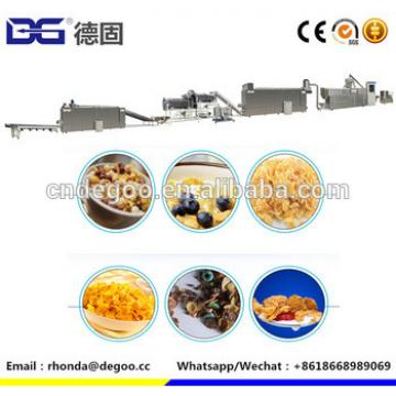 150-300kg/h corn flakes breakfast cereal snack machine puff snack food extruder
