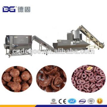 DG Chocolate Sugar Coated Breakfast Cornflex Cereal Extruder Machinery Line