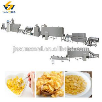 Nutritional breakfast cereal corn flakes machine