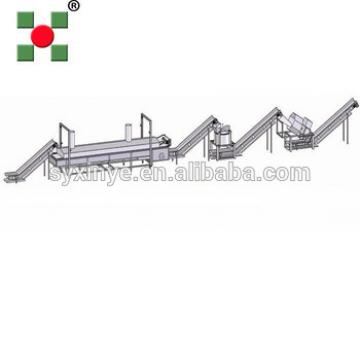 industrial potato chips type frozen french fries making machinery