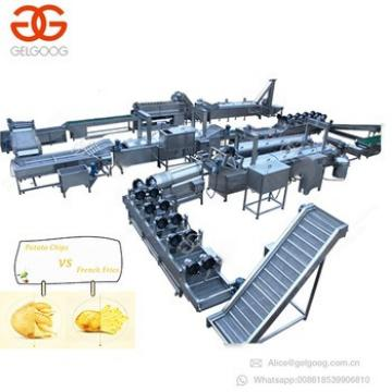 GELGOOG Equipment Maker Crisps Machinery Potato Chips French Fries Production Line Automatic Potato Chips Making Machine Price
