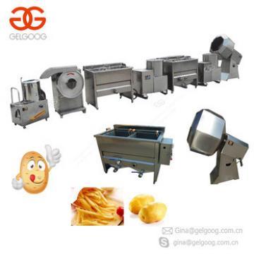 Semi-Automatic Frozen French Fries Production Line Finger Chips Frites Surgeler Potato Chips Making Machine