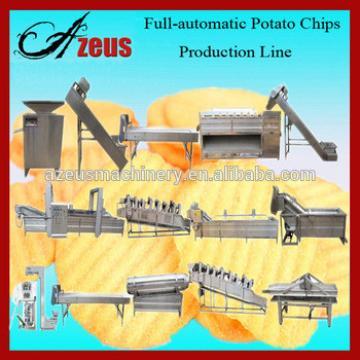 Full Automatic Fresh Potato Chips Machine / Potato Crisp Making Machine