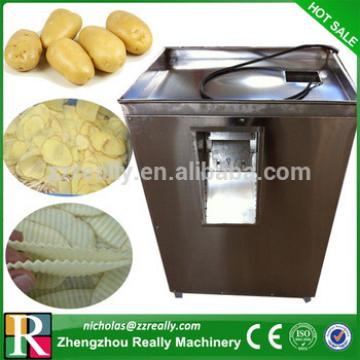 Ribbed/wave/plain potato chip slicer, potato chips making machine for sale