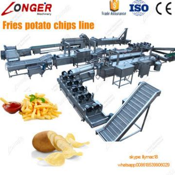 Sweet Potato Crisp Surgeler Chip Frying Machinery Potato Chips Making Machine Price Frozen French Fries Production Line For Sale