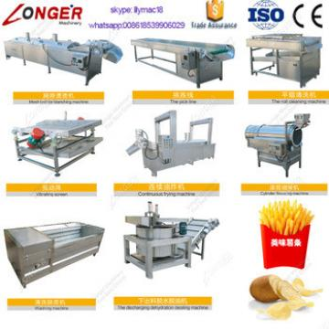 Factory Price Industrial Fully Automatic Fryed Potato Flakes Chips Making Machine Frozen French Fries Production Line For Sale