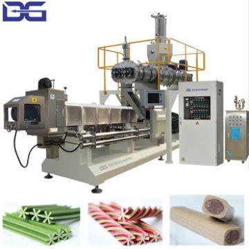 Automatic twin screw extruder spiral dental dog chew bone stick snack food maker machines production line