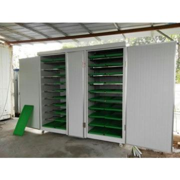 hydroponic green forage growing machine for animal feed