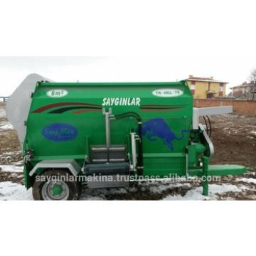 High Quality From Turkey Animal Feed pellet Machine 6m3 Feed Mixer Wagon Horizantal