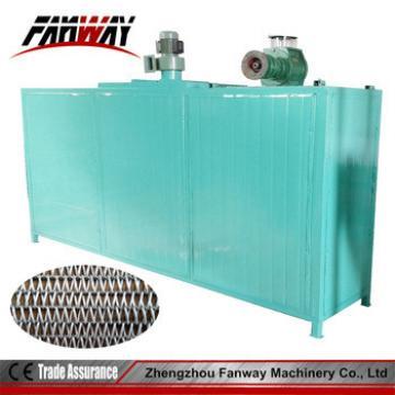 Fanway hot air belt type animal feed / fish feed pellet dryer machines