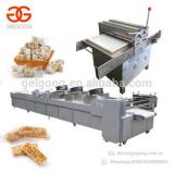 Automatic Protein Cereal Energy Bar Production Line Chikki Muesli Nut Brittle Making Sesame Snap Peanut Candy Bar Making Machine
